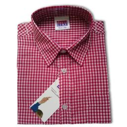 Red Short Sleeved Check Shirt