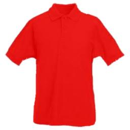 Red PE Plain Polo shirt