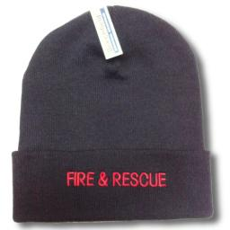 Fire & Rescue woolly hat