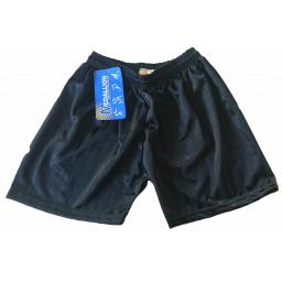 Black Shadow Stripe PE Shorts