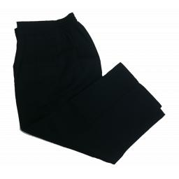 Boys navy elasticated trousers