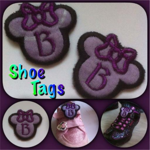 Minnie Mouse Shoe Tags