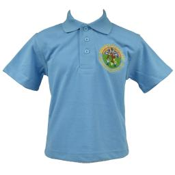 Blue school polo