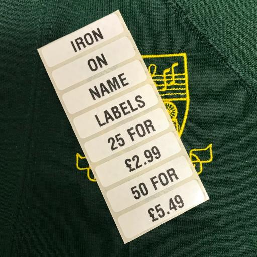 Iron On Name Tapes