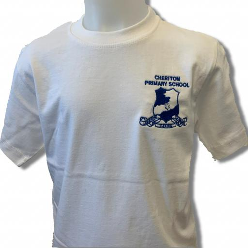 Cheriton White PE T Shirt