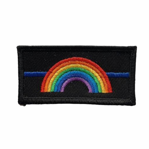 Thin Blue Line Rainbow Badge