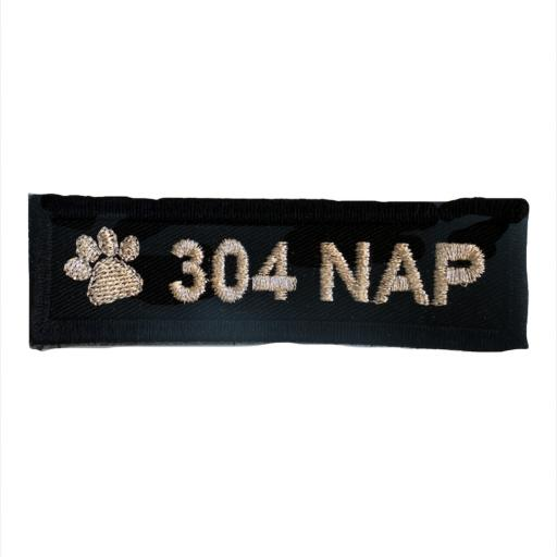 Name badge 3cm x10cm - Dog Section Paw print