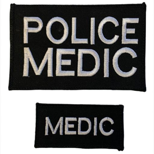 Police Medic Patch 15cm x 10cm - Tactical Patch