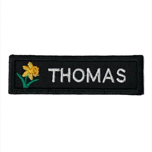 Name badge 3cm x10cm - Welsh Daffodil