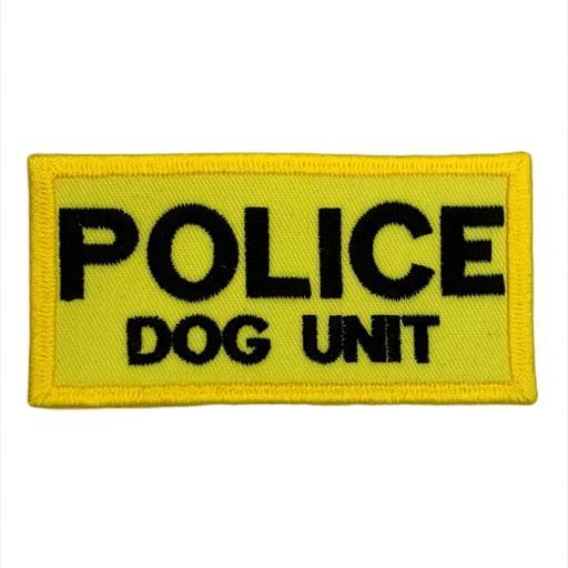 Police Dog Unit Patch 10cm x 5cm