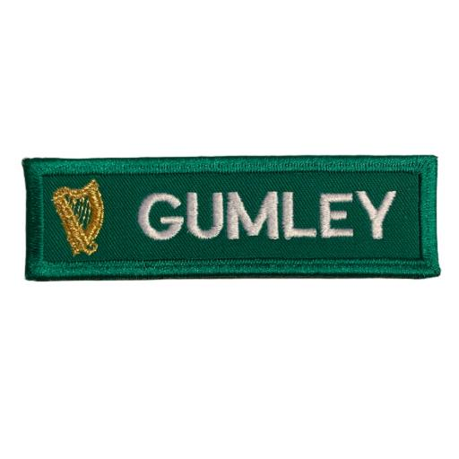 Name badge 3cm x10cm - Irish Harp