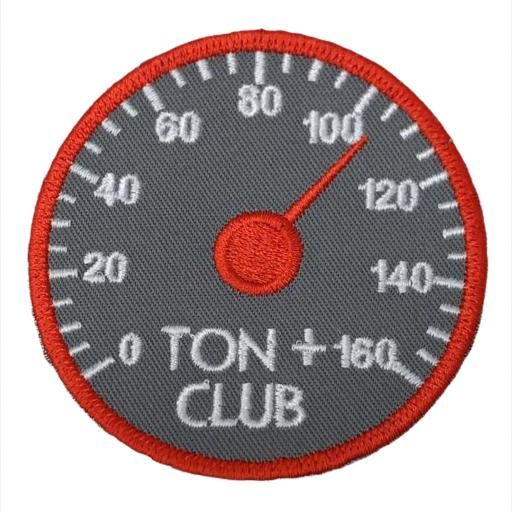 Ton Plus 8cm Round Patch. Hook or Iron on Backed