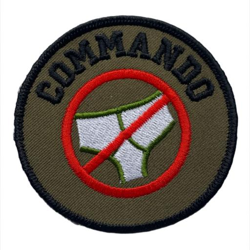 Commando 8cm Round Patch. Hook or Iron on Backed