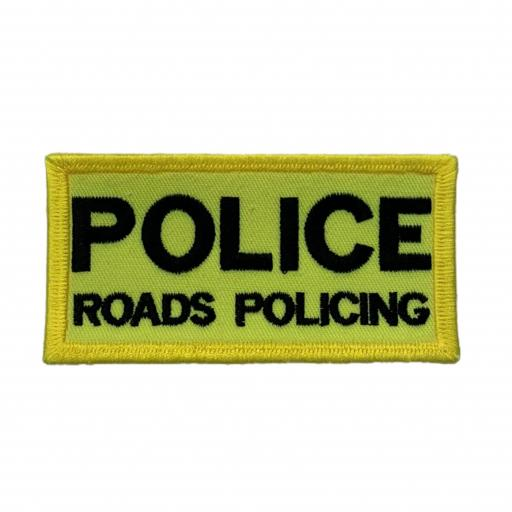 Police Roads Policing Patch 10cm x 5cm