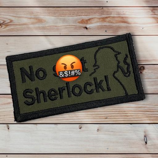 Sherlock Patch 10cm x 5cm